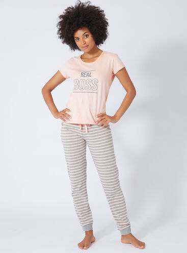 'Real boss' womens pyjama set
