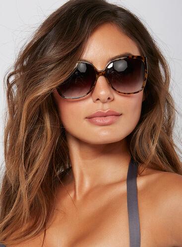 Oversized tortoise shell sunglasses