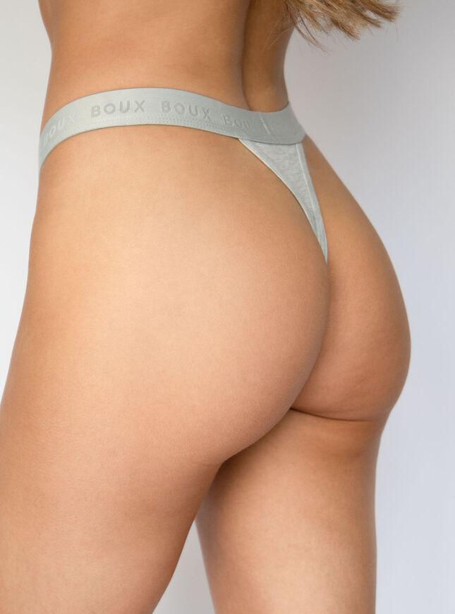 Nell high leg boxer thong