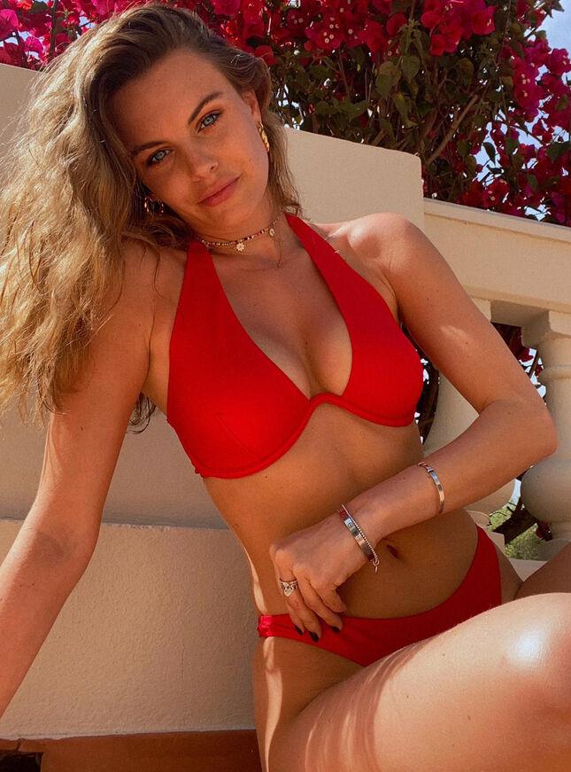 Ibiza red mono wire bikini top