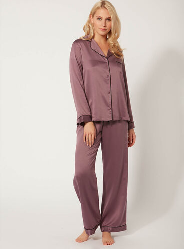 Long satin pyjama set