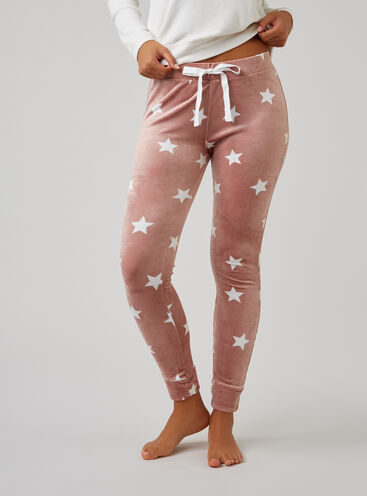 Star velour leggings
