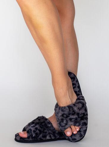 Animal twisted slider slippers