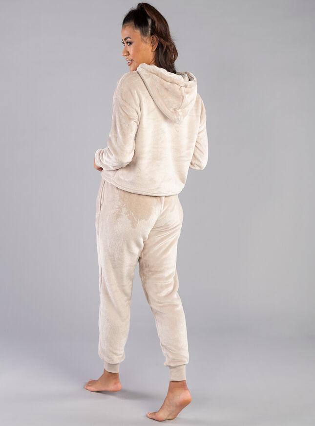 Fleece hoodie and jogger set