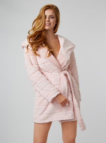 Luxe stripe dressing gown