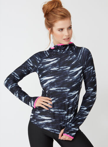 Galaxy print running top