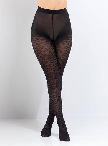 Animal print tights