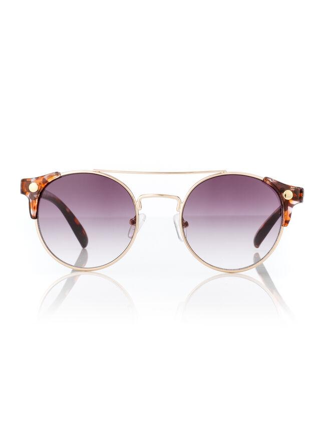 Tortoise shell corner sunglasses