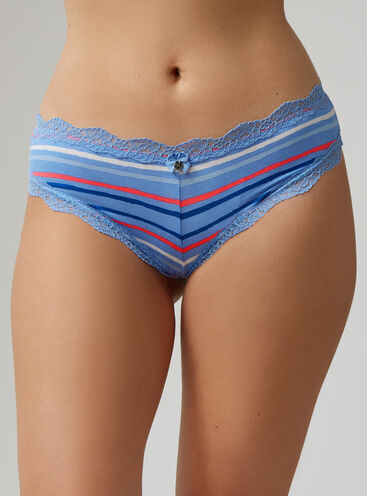 Tatiana stripe Brazilian briefs