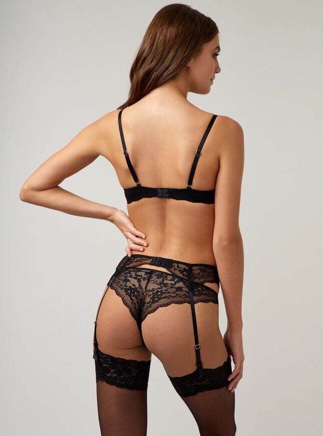 Mollie lace suspender belt