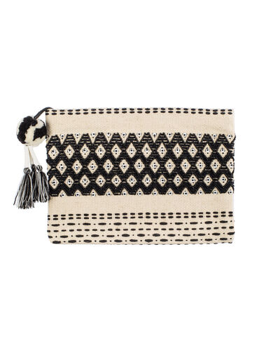 Beaded tassel beach clutch