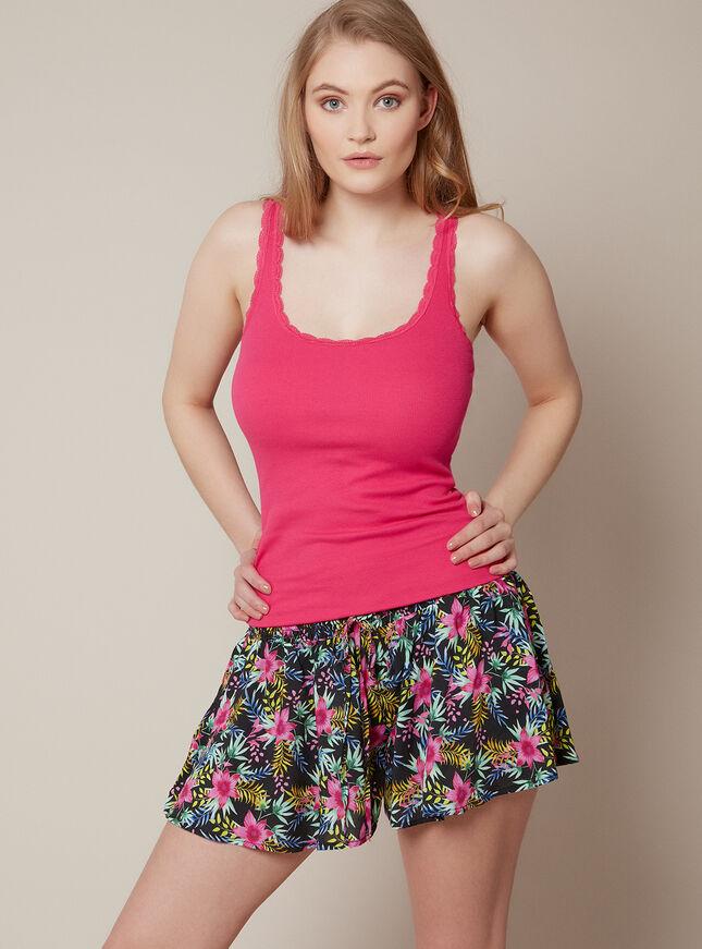 Summer tropics vest and shorts set