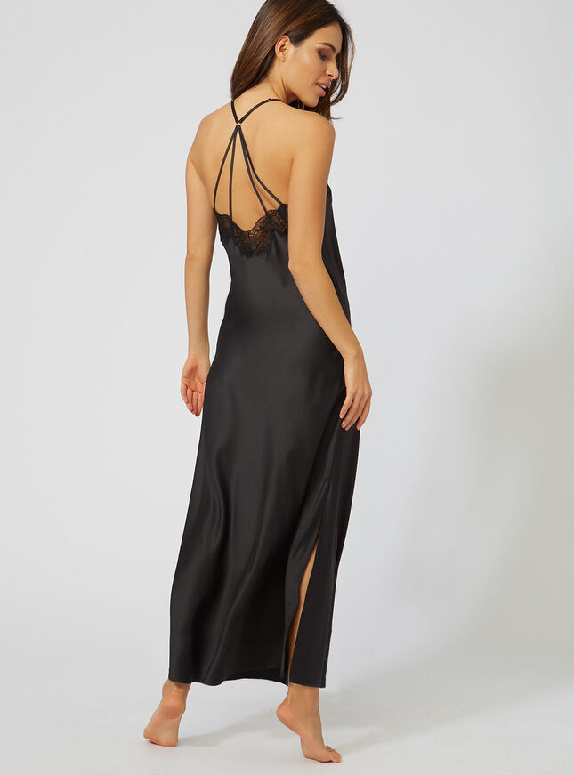 Monica strappy long chemise