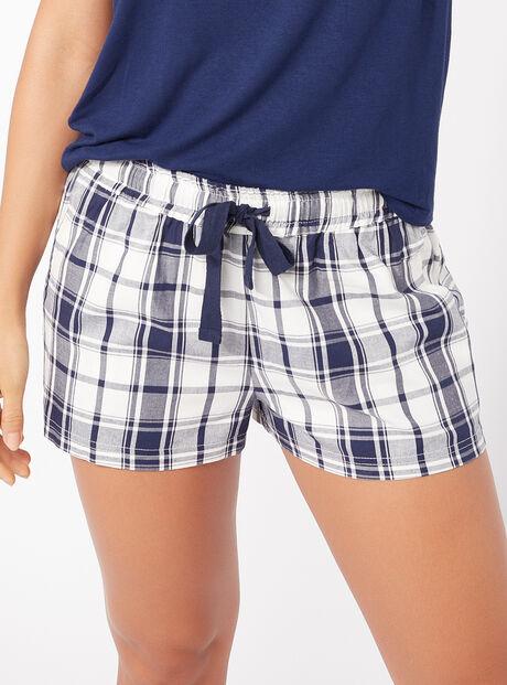 Mono check shorts