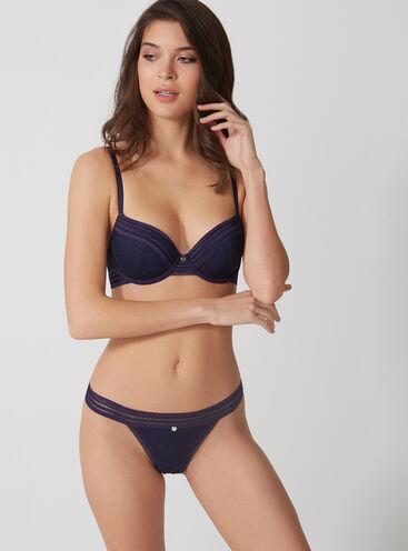 Jenna floral plunge lingerie set
