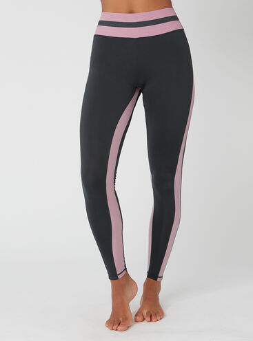 Activewear stripe full length leggings