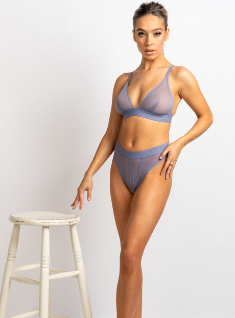 Boux lounge mesh triangle bra