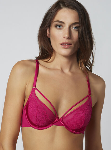 Lilian strappy non-padded plunge bra