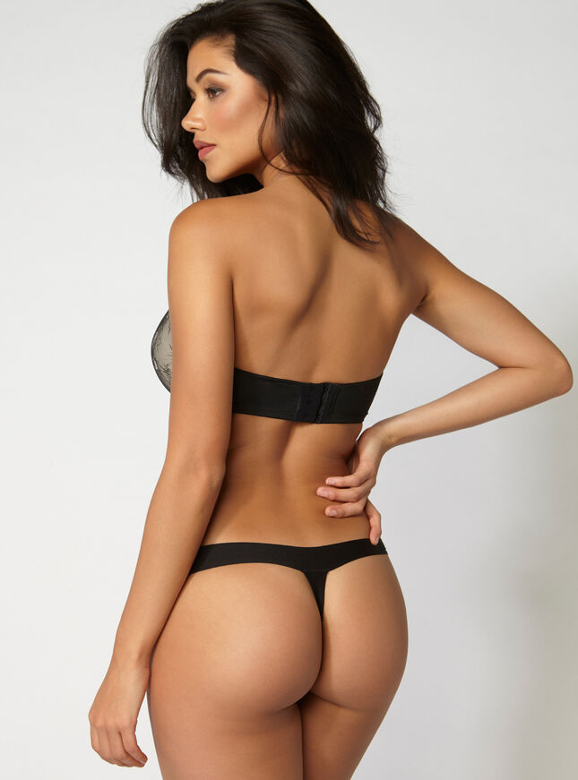 Boux lace strapless plunge bra