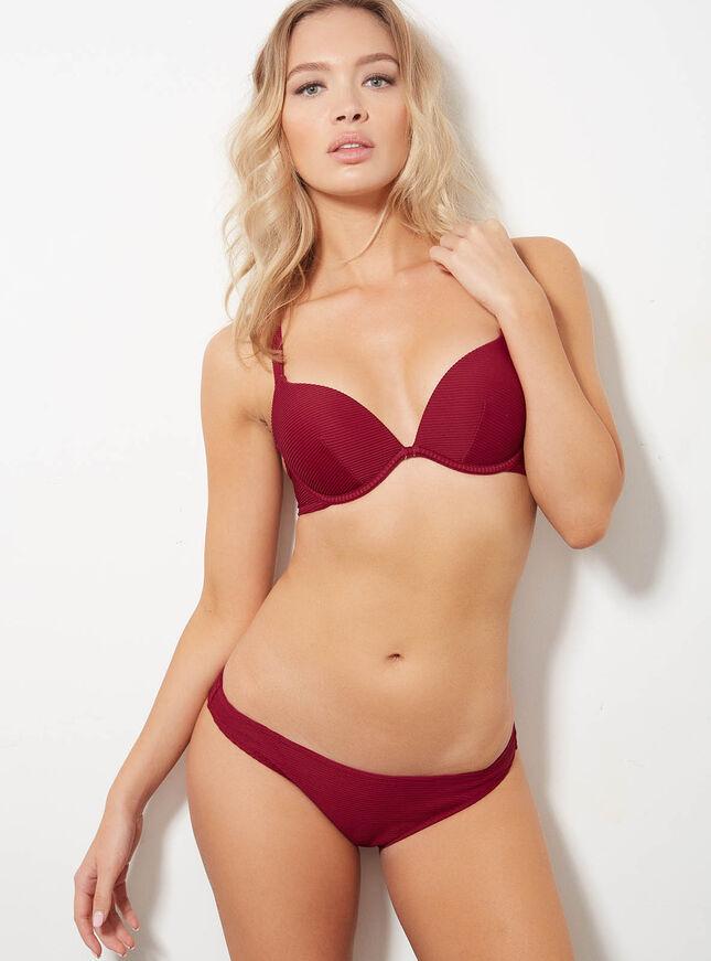Ribbed bikini briefs