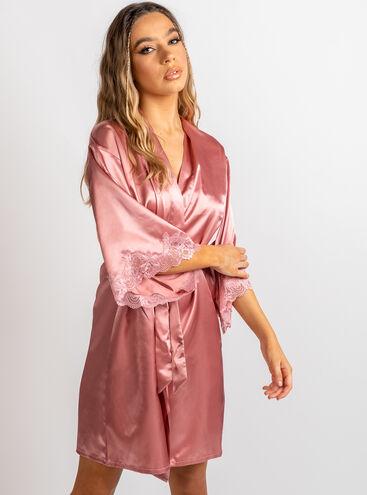 Darcie lace trim dressing gown