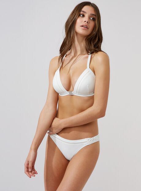Crete macrame bikini briefs
