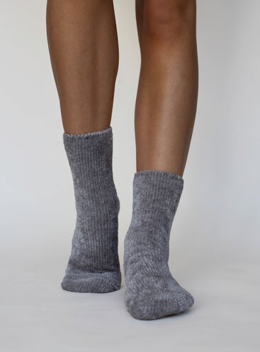 Velvet fleece sock