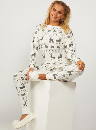 Fairisle top and leggings pyjama set