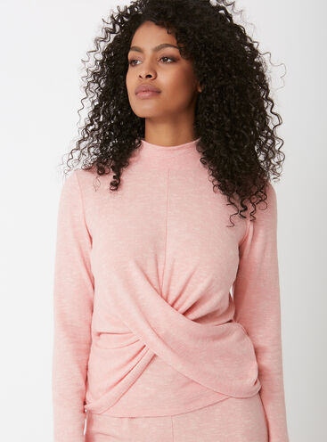 Cosy twist front top