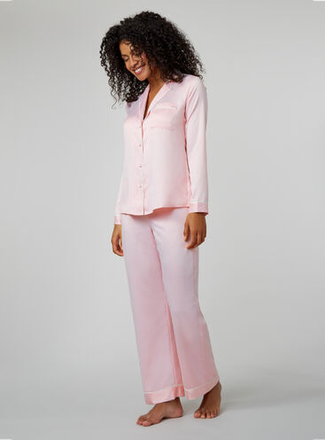 Rita long satin pyjama set
