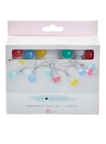 Pastel fairy lights