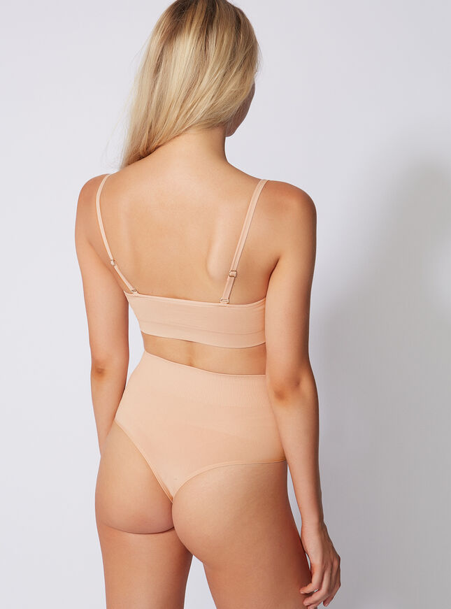 Sculpting high-waisted thong