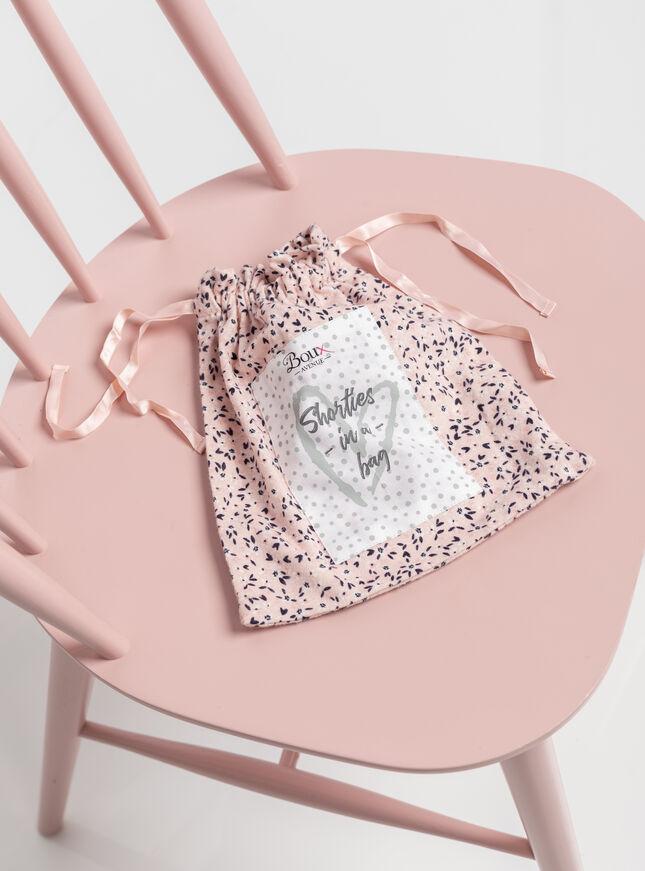 Ditsy floral shortie pyjamas in a bag