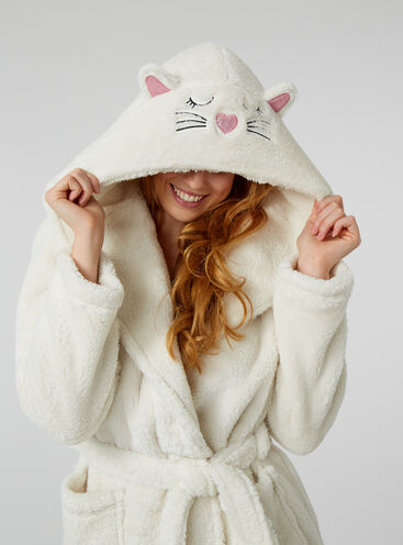 Cat hooded dressing gown