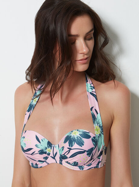 Flores multiway bikini top