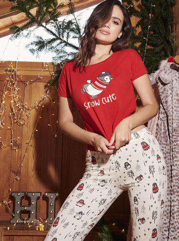 """Snow cute"" penguin pyjama gift set"