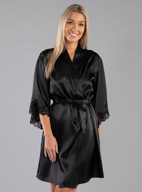Darcie lace trim dressing gown