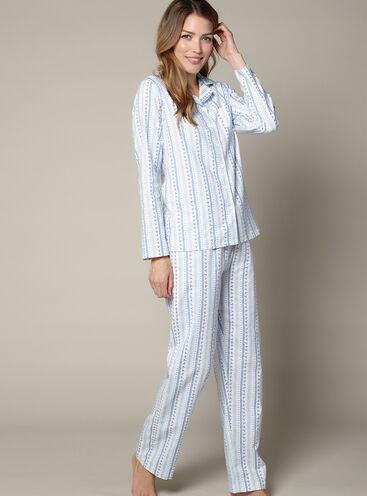 Floral stripe pyjamas in a bag