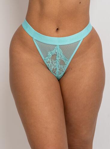 Tasha high leg lace thong