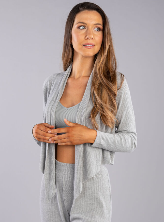 Lillie ribbed lounge tie top