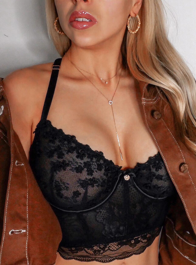 Nettie unpadded longline bra
