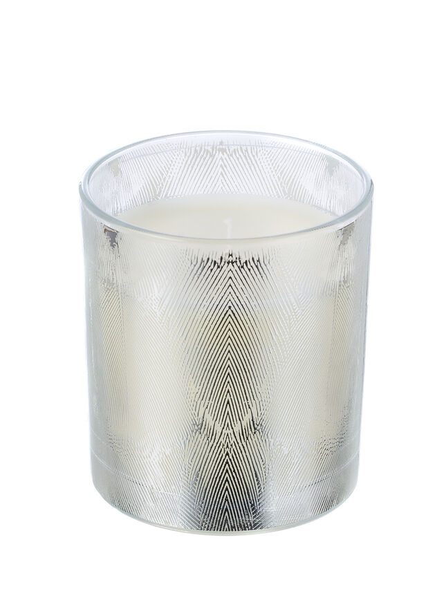 White chiffon candle