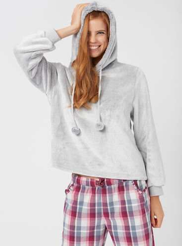 Mix & match fleece hoody