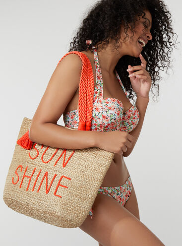 Sunshine straw beach bag