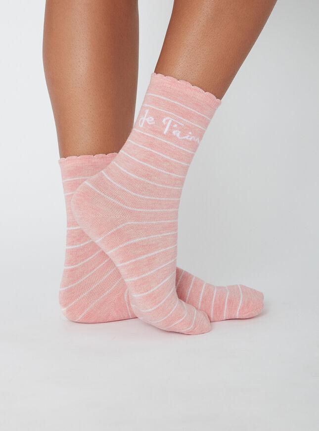 """Je t'aime"" socks"