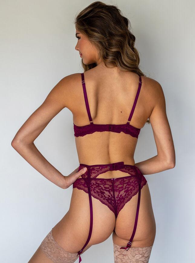 Mollie lace suspender belt