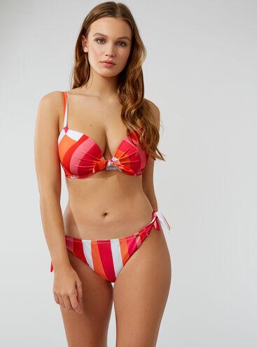 Bordeaux tie side bikini briefs