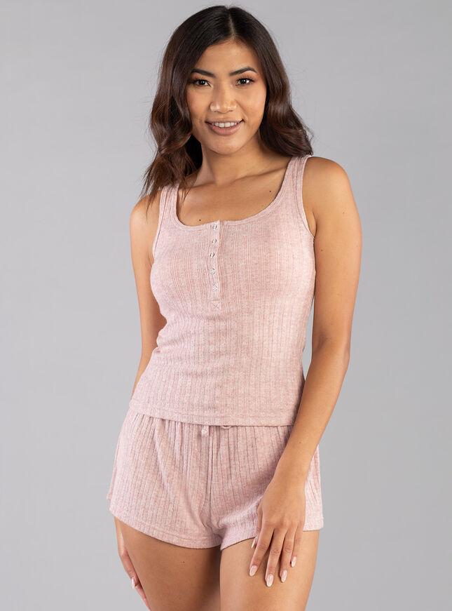 Lillie pointelle vest & short set