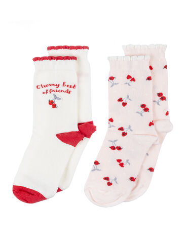 2 pack fruit ankle socks