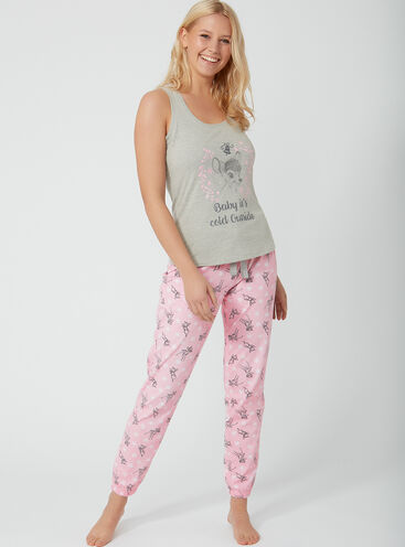 Winter Bambi pyjama set